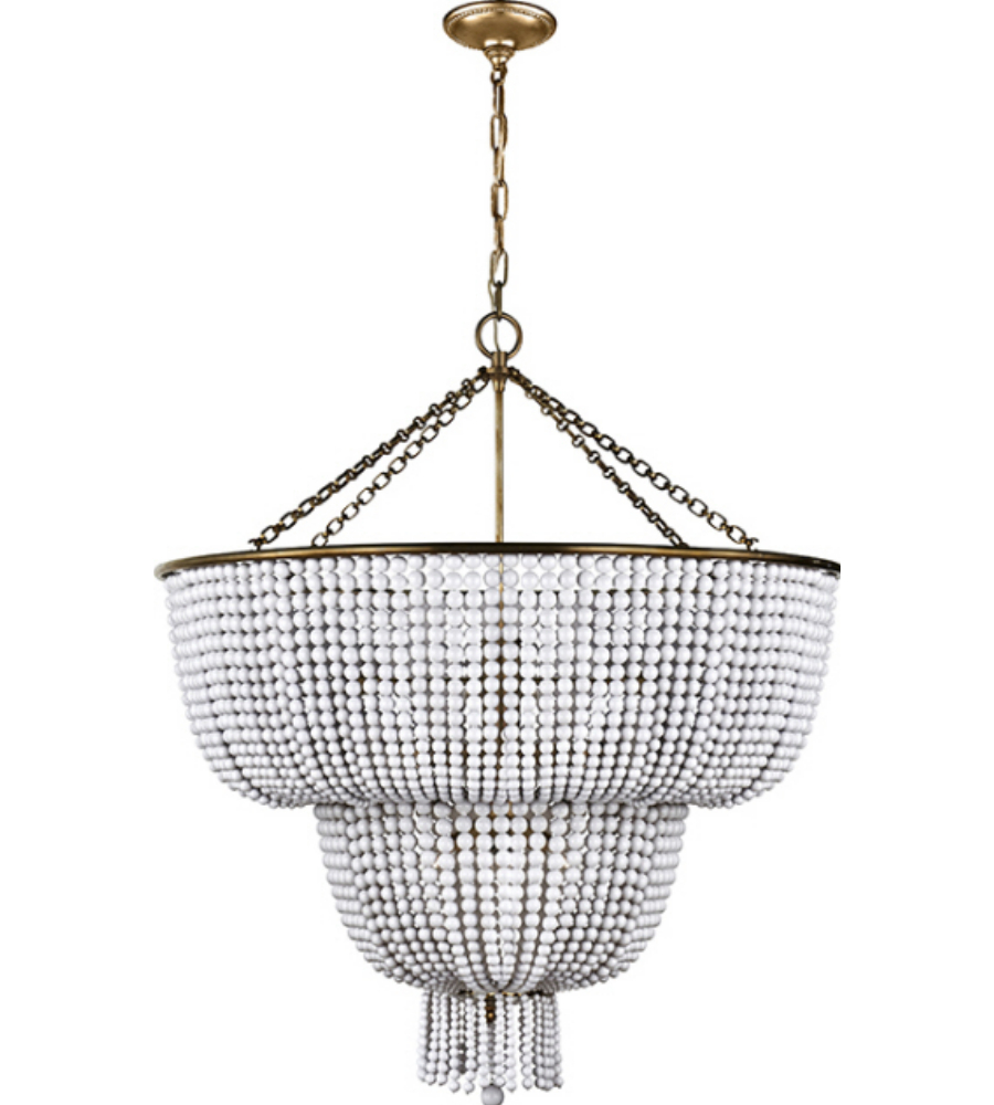 Visual comfort arn 5104hab wg aerin traditional jacqueline two tier visual comfort arn 5104hab wg aerin traditional jacqueline two tier chandelier in hand rubbed antique brass with white acrylic foundrylighting arubaitofo Image collections