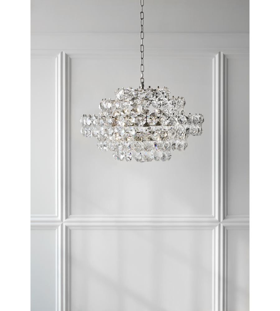 Visual comfort arn 5105pn cg aerin modern sanger small chandelier in visual comfort arn 5105pn cg aerin modern sanger small chandelier in polished nickel with crystal foundrylighting aloadofball Gallery