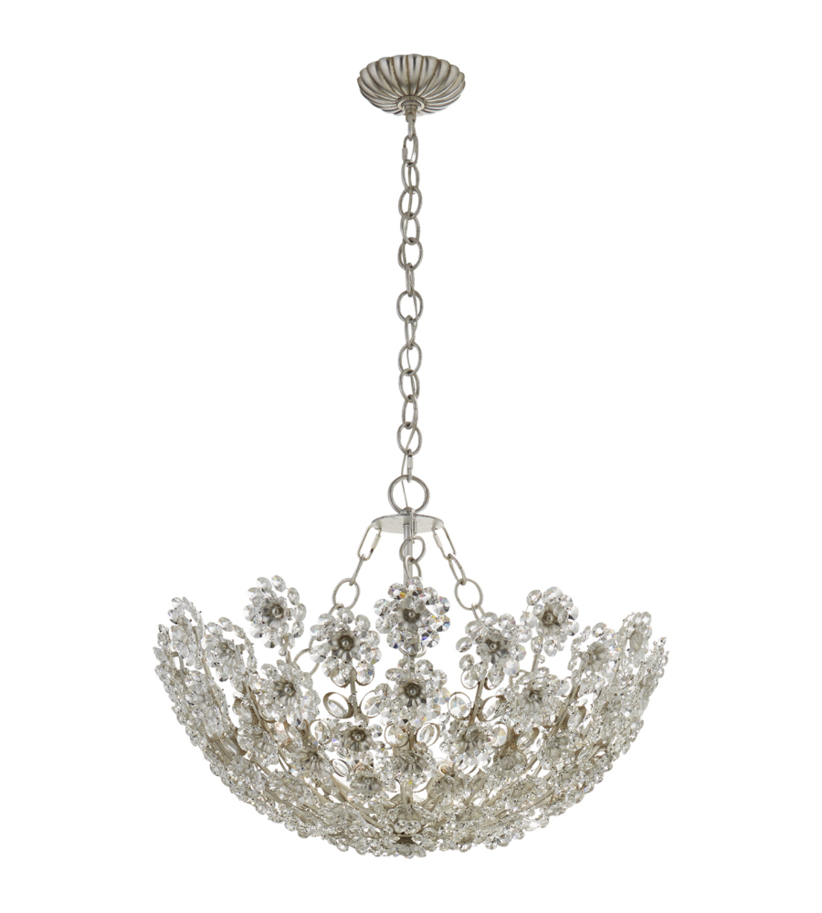 Visual Comfort ARN BSLCG AERIN Traditional Claret Short - Chandelier leaves crystals