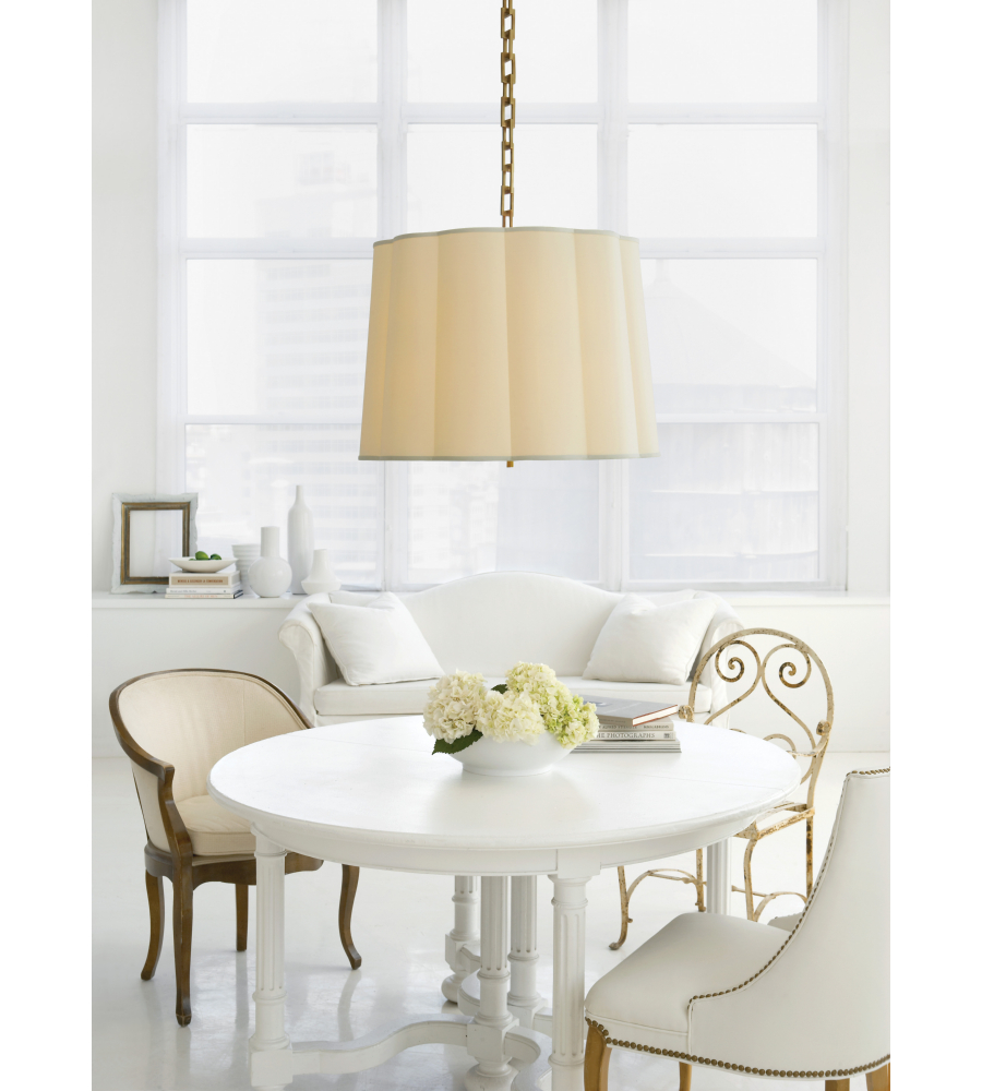 Visual comfort bbl 5015ss s barbara barry modern simple scallop visual comfort bbl 5015ss s barbara barry modern simple scallop large hanging shade in soft silver with silk shade foundrylighting aloadofball Images