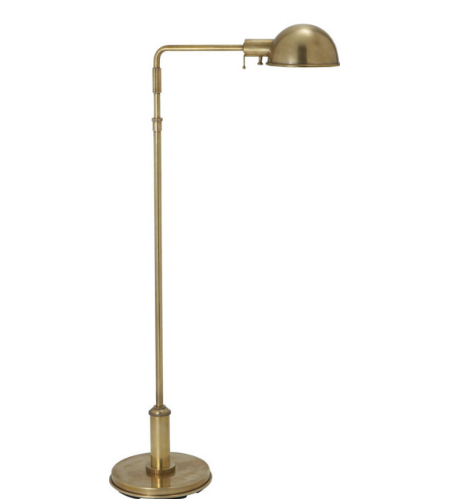 pharmacy floor lamp in antique burnished brass. Black Bedroom Furniture Sets. Home Design Ideas