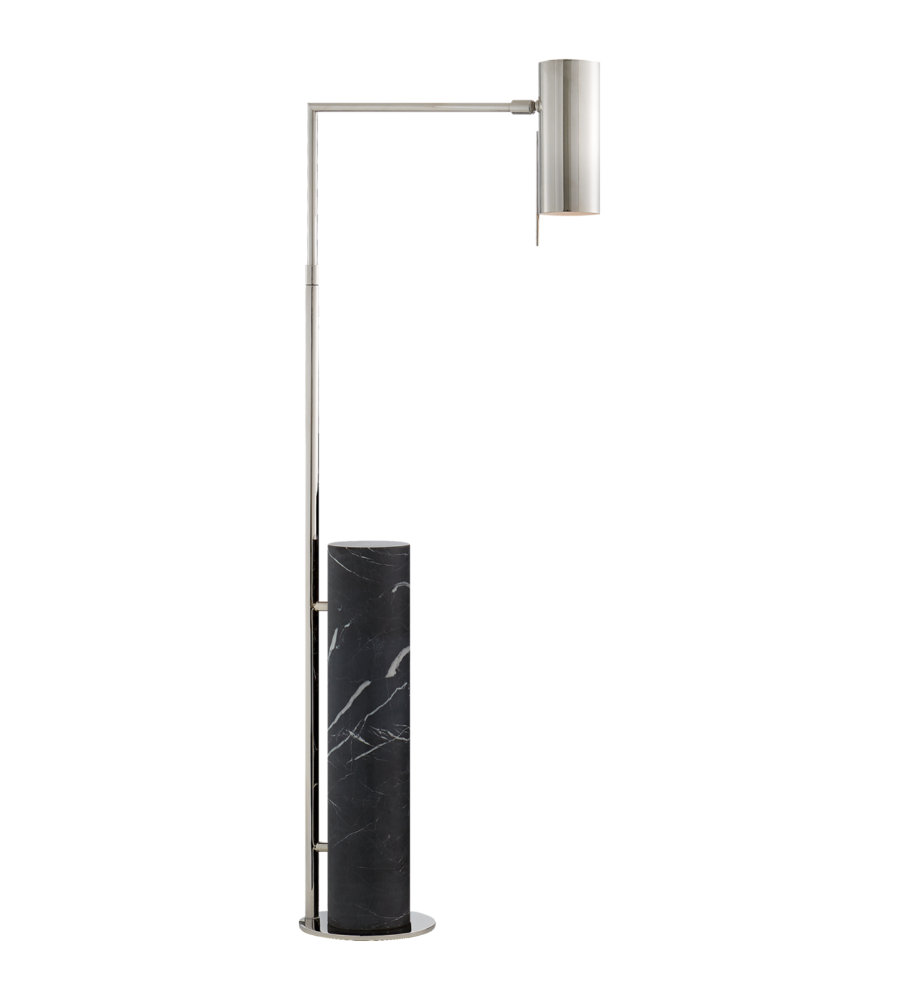 Visual comfort kw 1611pnbm kelly wearstler modern alma floor lamp visual comfort kw 1611pnbm kelly wearstler modern alma floor lamp in polished nickel and black marble foundrylighting mozeypictures Choice Image
