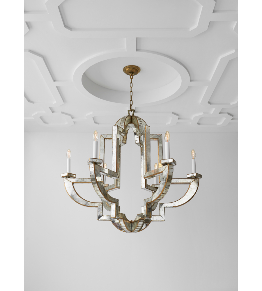 Visual comfort nw 5041amhab niermann weeks traditional lido large visual comfort nw 5041amhab niermann weeks traditional lido large chandelier in antique mirror and hand rubbed antique brass foundrylighting aloadofball Images
