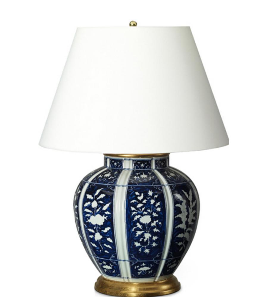 visual comfort rl15003po ralph lauren medeleine floral table lamp in. Black Bedroom Furniture Sets. Home Design Ideas