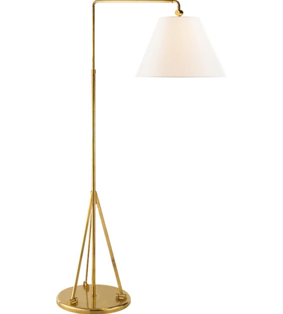 visual comfort rl1500nb l ralph lauren brompton swing arm floor lamp. Black Bedroom Furniture Sets. Home Design Ideas
