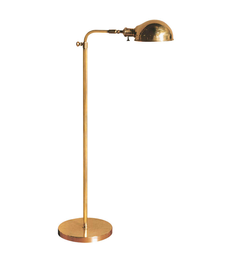 vc floor lamps old pharmacy floor lamp in hand rubbed antique brass. Black Bedroom Furniture Sets. Home Design Ideas