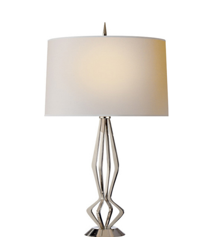 Visual comfort s 3085pn l barry goralnick modern selene table lamp visual comfort s 3085pn l barry goralnick modern selene table lamp in polished nickel with linen shade foundrylighting geotapseo Gallery
