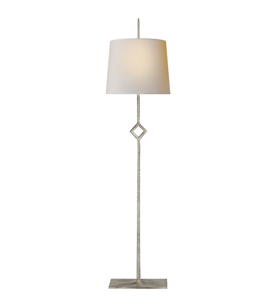 Visual Comfort S 3407BSL NP Studio VC Casual Cranston Buffet Lamp In  Burnished Silver Leaf With Natural Paper Shade | FoundryLighting.com