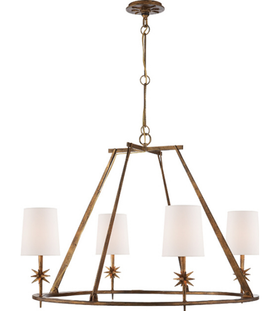 Visual comfort s 5315gi np ian k fowler modern etoile round visual comfort s 5315gi np ian k fowler modern etoile round chandelier in gilded iron with natural paper shades foundrylighting arubaitofo Image collections