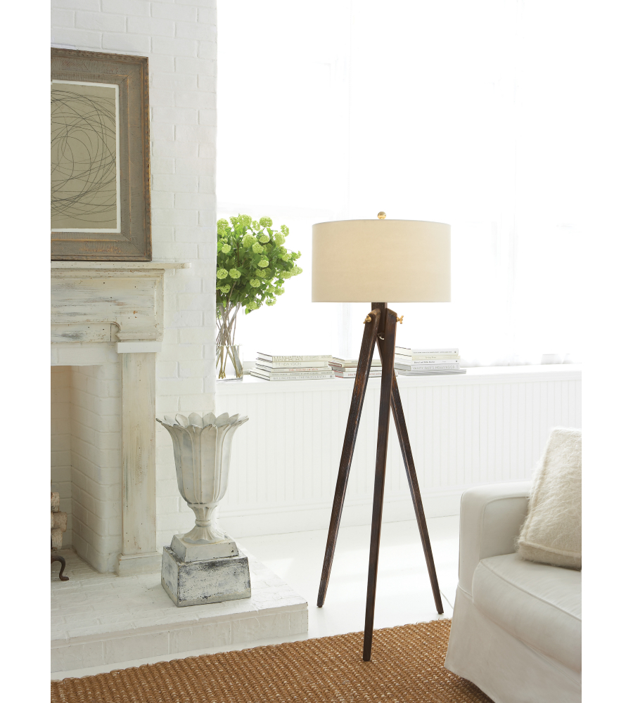 visual comfort sl1700tb np e f chapman tripod floor lamp. Black Bedroom Furniture Sets. Home Design Ideas