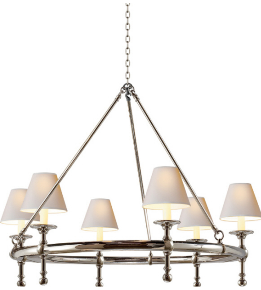 Visual comfort sl 5812pn np e f chapman casual classic ring visual comfort sl 5812pn np e f chapman casual classic ring chandelier in polished nickel with natural paper shades foundrylighting arubaitofo Choice Image