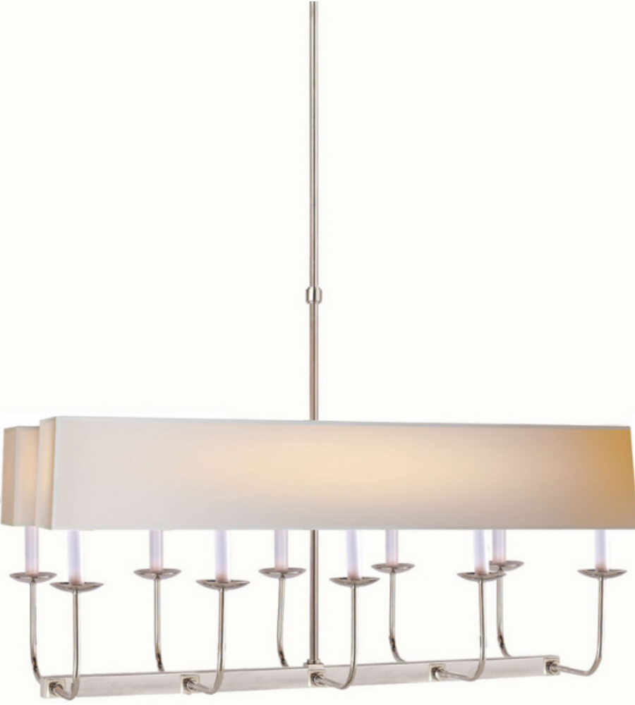 Visual comfort sl 5863pn np2 e f chapman modern linear branched visual comfort sl 5863pn np2 e f chapman modern linear branched chandelier in polished nickel with natural paper rectangle shade foundrylighting aloadofball Images