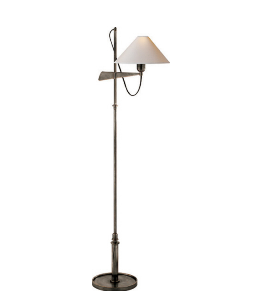 Visual comfort sp 1505bz np j randall powers modern hargett bridge visual comfort sp 1505bz np j randall powers modern hargett bridge arm floor lamp in bronze with natural paper shade foundrylighting aloadofball Image collections