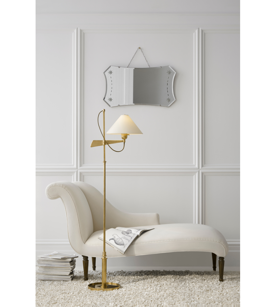 Visual comfort sp 1505hab np j randall powers modern hargett visual comfort sp 1505hab np j randall powers modern hargett bridge arm floor lamp in hand rubbed antique brass with natural paper shade foundrylighting mozeypictures Choice Image