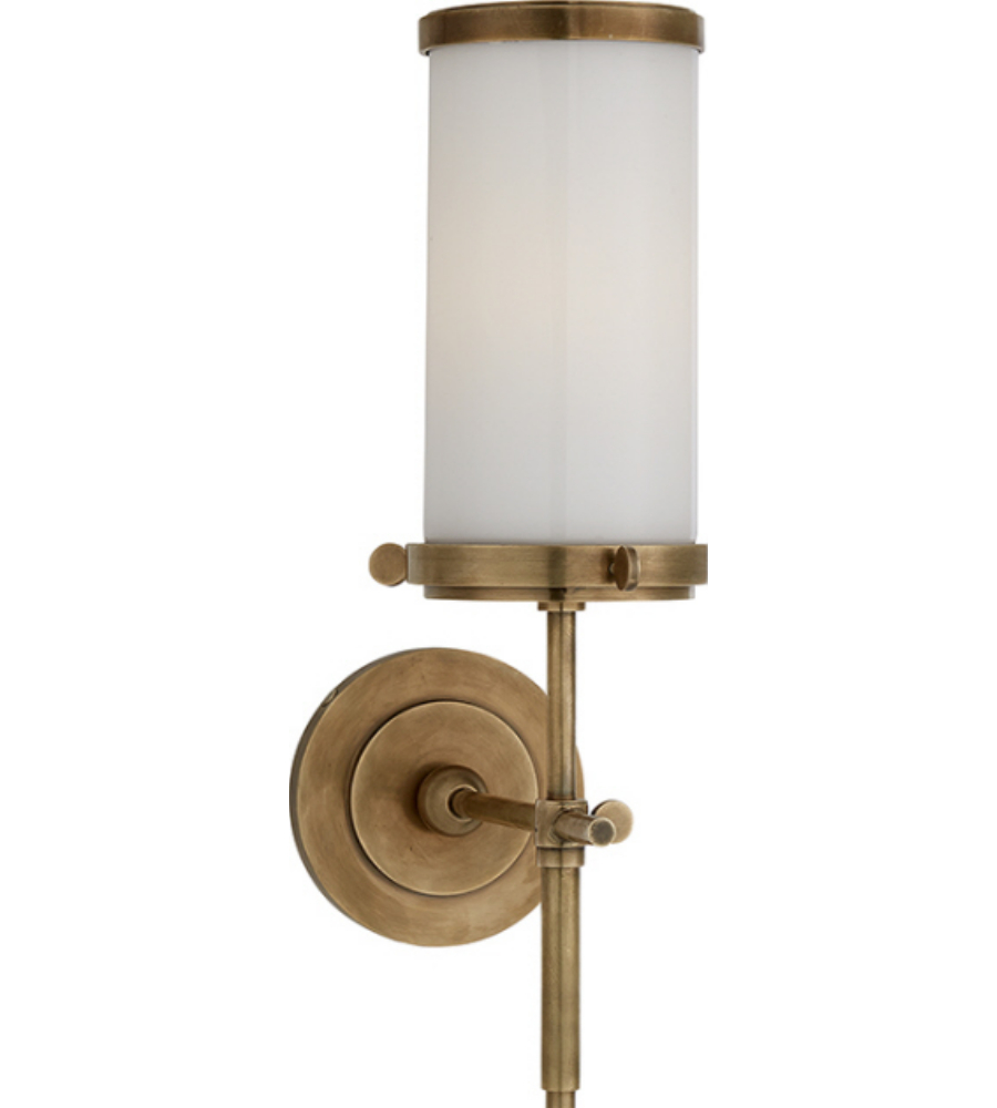 Visual Comfort TOB HABWG Thomas OBrien Modern Bryant Bath - Antique brass bathroom sconces