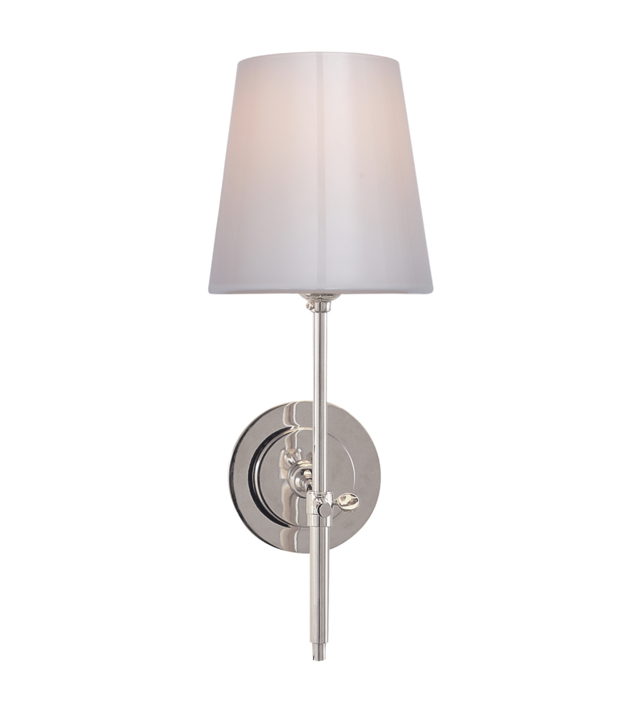 hero polished savoy sconce nickel