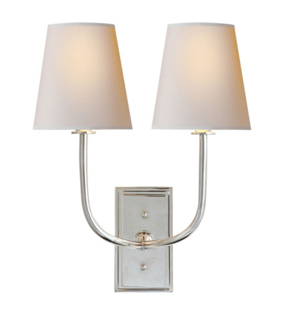 Double sconce bathroom lighting
