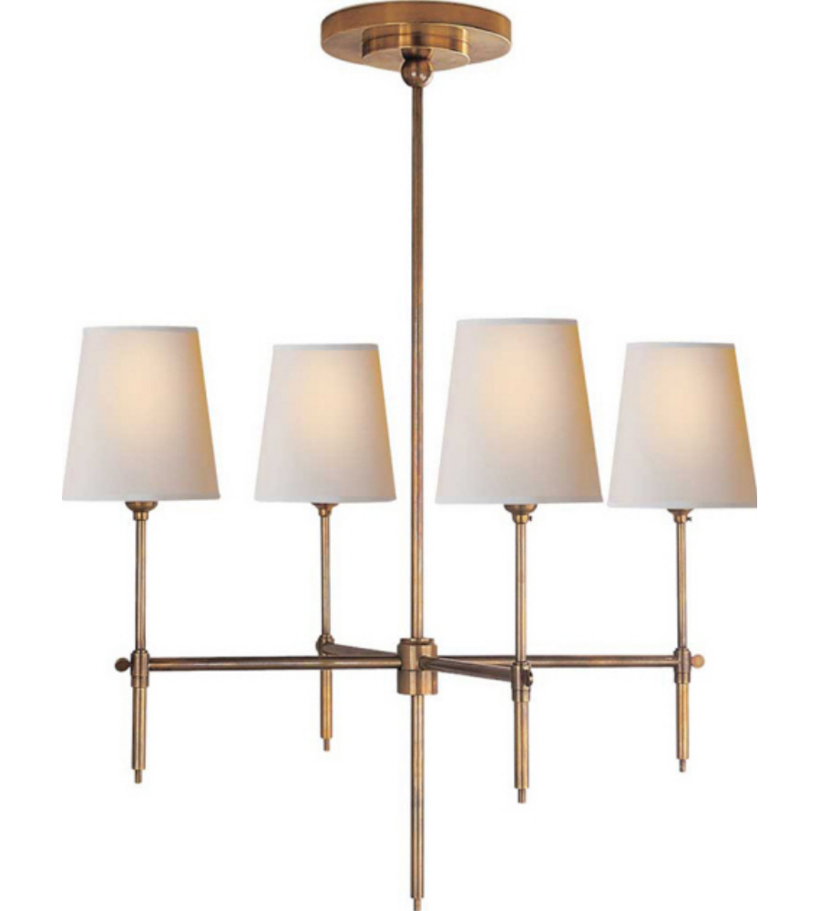 Visual comfort tob 5002hab np thomas obrien modern bryant small visual comfort tob 5002hab np thomas obrien modern bryant small chandelier in hand rubbed antique brass with natural paper shades foundrylighting arubaitofo Gallery