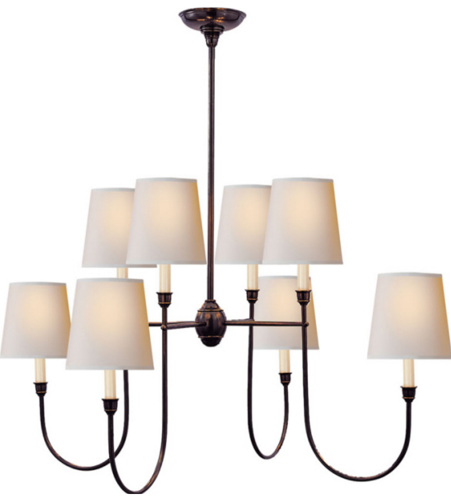 visual comfort tob5008bz np thomas o 39 brien vendome large chandelier in. Black Bedroom Furniture Sets. Home Design Ideas