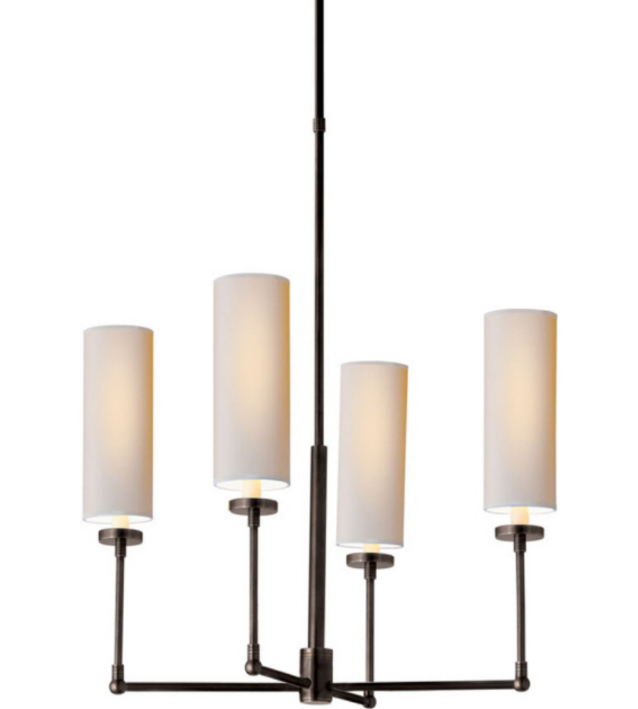 visual comfort tob5015bz np thomas o 39 brien ziyi small chandelier in. Black Bedroom Furniture Sets. Home Design Ideas