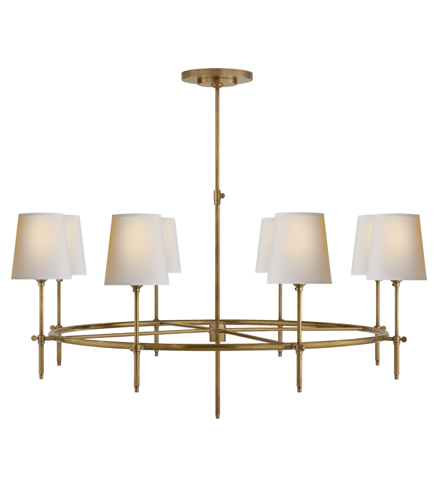 Visual comfort tob 5024hab np thomas obrien modern bryant large visual comfort tob 5024hab np thomas obrien modern bryant large ring chandelier in hand rubbed antique brass with natural paper shades foundrylighting arubaitofo Gallery
