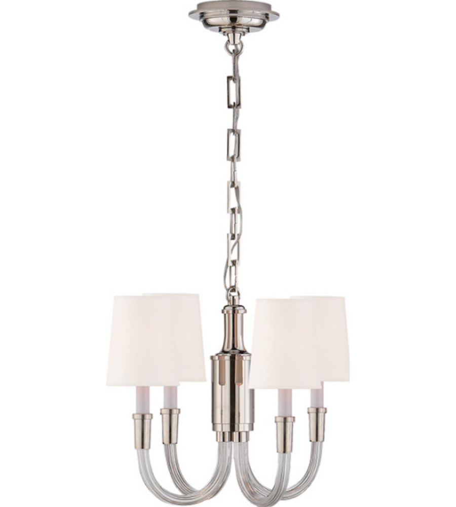 Visual comfort tob 5031pn np thomas obrien modern vivian mini visual comfort tob 5031pn np thomas obrien modern vivian mini chandelier in polished nickel with natural paper shades foundrylighting aloadofball Choice Image