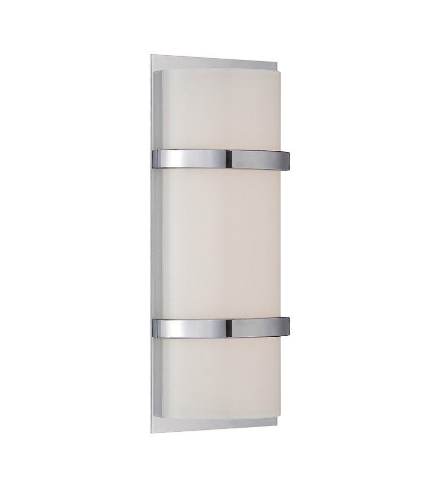 WAC Lighting WS-6614-CH Vie LED dweLED LED Wall Vanity Sconce in ...