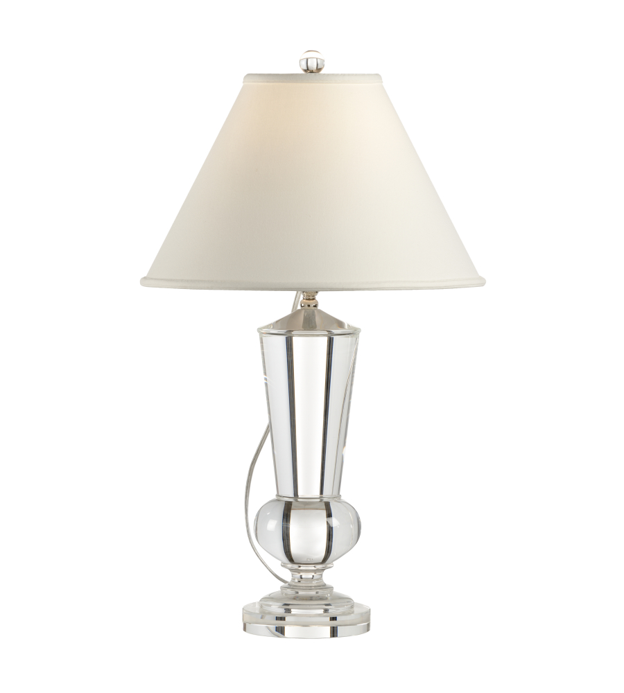 Wired Lamps | Wildwood Lamps 1152 French Wired Solid Crystal 1 Light Crystal Urn
