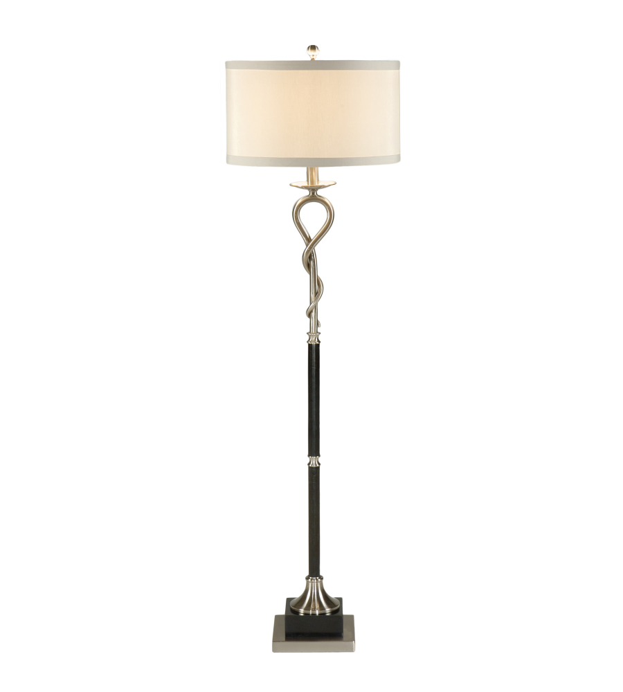 Wildwood lamps 22290 transitional loop and twist floor lamp in wildwood lamps 22290 transitional loop and twist floor lamp in brushed foundrylighting mozeypictures Images