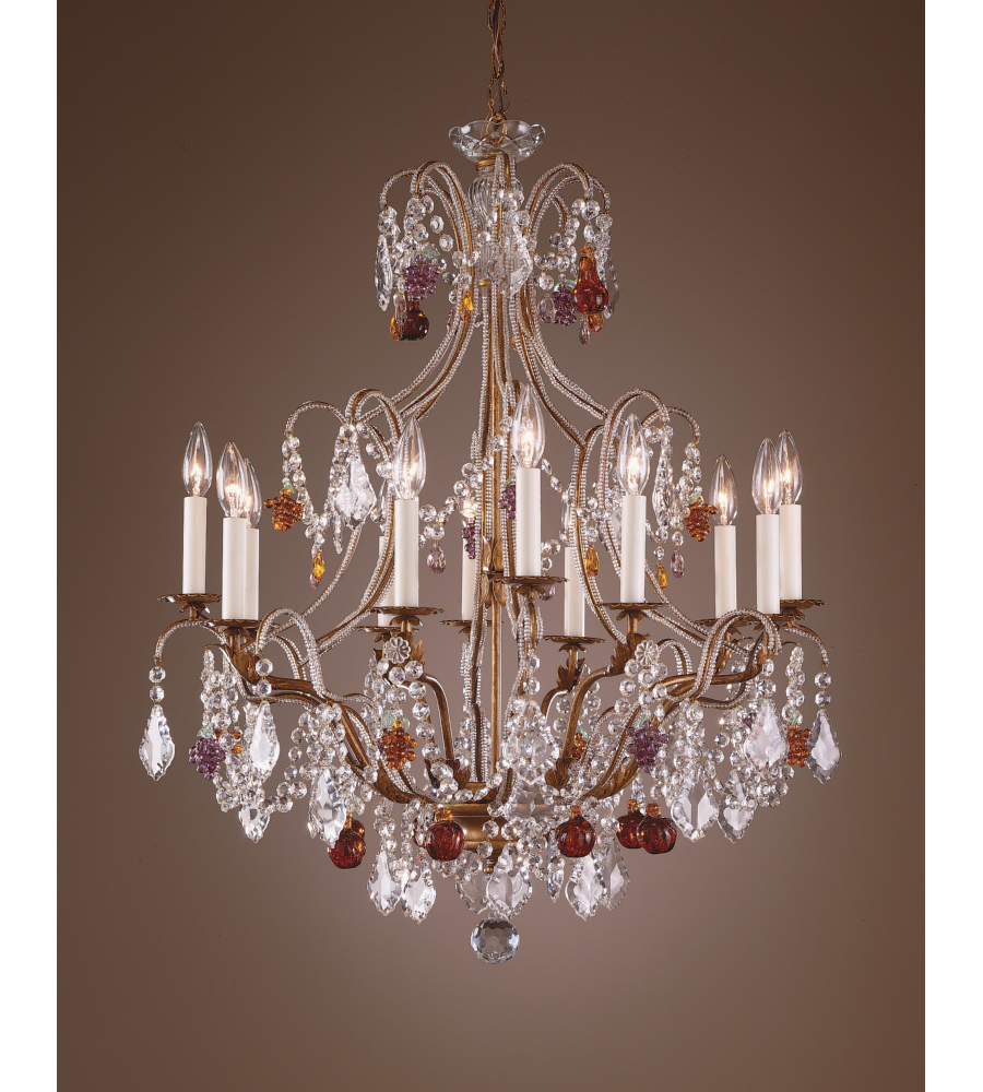 Wildwood Lamps 2898 Beaded Crystals Chandelier In Hand Made Twelve Lights Foundrylighting Com