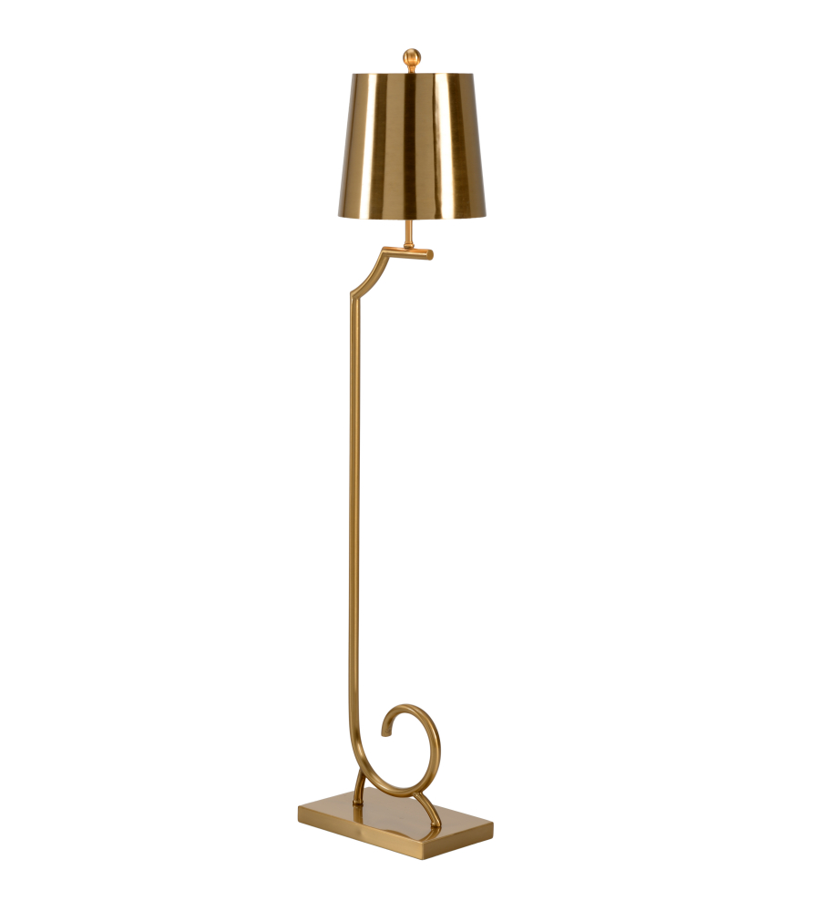 Wildwood lamps 60526 transitional langston floor lamp brass in wildwood lamps 60526 transitional langston floor lamp brass in antique brass foundrylighting mozeypictures Images