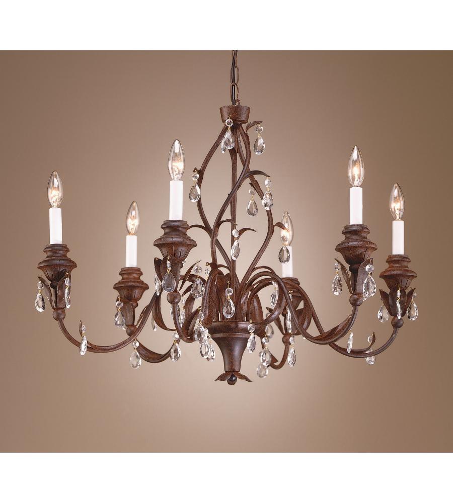 Wildwood lamps 7728 wildwood wood and crystals chandelier in antique