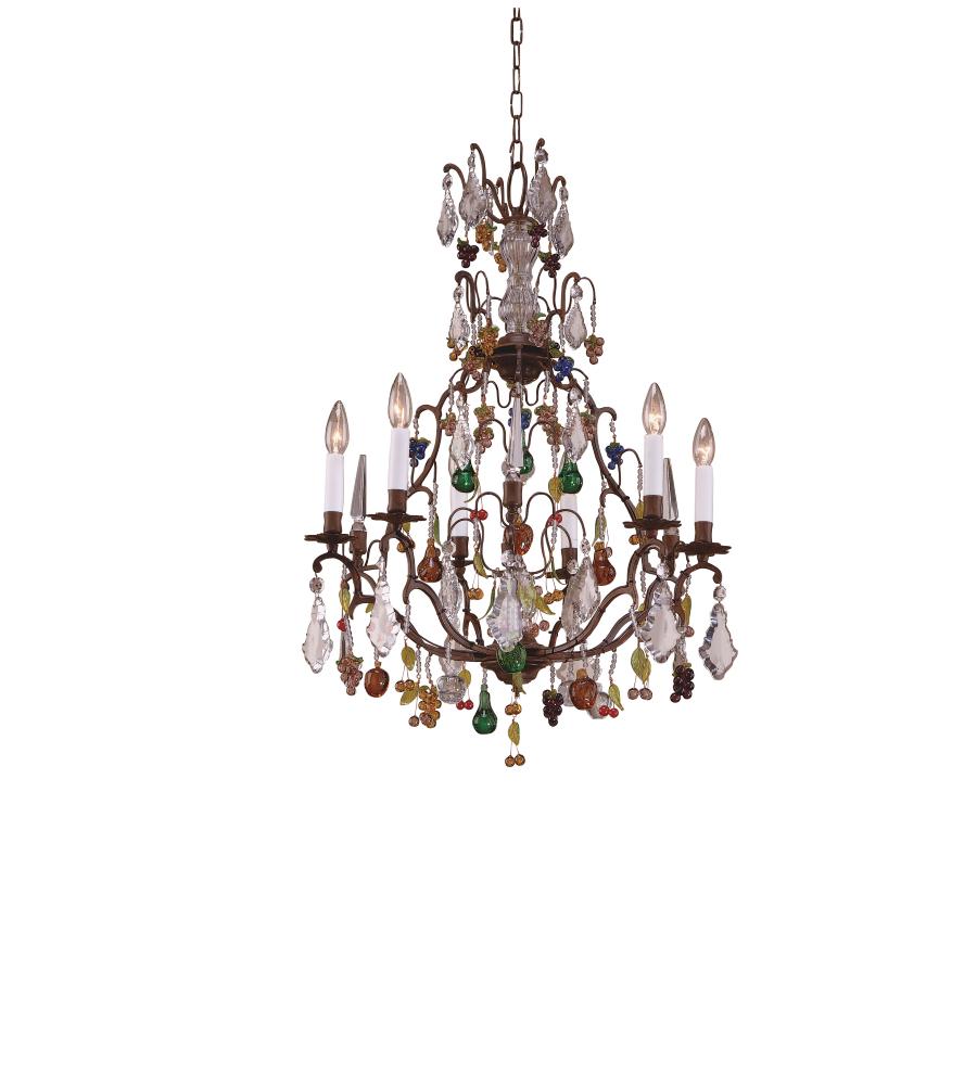 wildwood lamps 7740 wildwood crystal fruits chandelier in fruits and