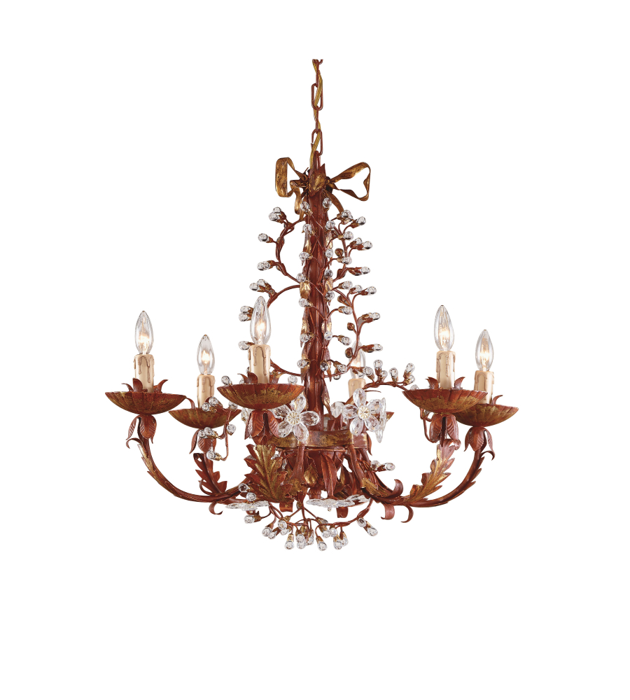 wildwood lamps 7749 wildwood polychrome iron chandelier in crystal