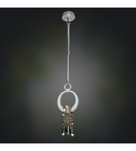 Allegri 021950-010-FR001 Bartolome 6 Led Mini Round Pendant in Chrome with Firenze Clear