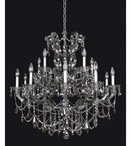 Allegri 023451-010-FR006 Brahms 15 Light Chandelier in Chrome