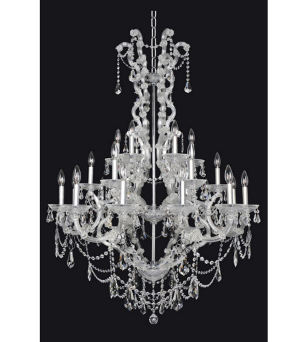 Allegri 023452-010-FR001 Brahms 24 Light Chandelier in Chrome