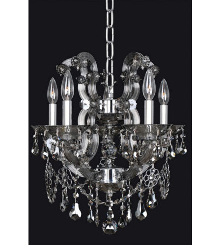 Allegri 023453 Brahms 5 Light Chandelier In Chrome
