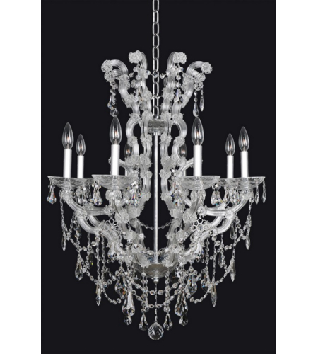 Allegri 023454 Brahms 8 Light Chandelier In Chrome