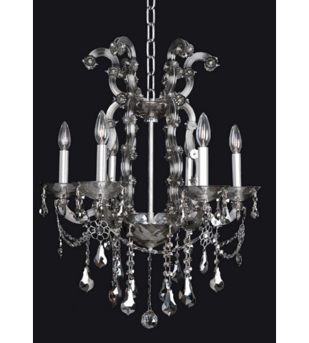 Allegri 023455 Brahms 6 Light Chandelier In Chrome