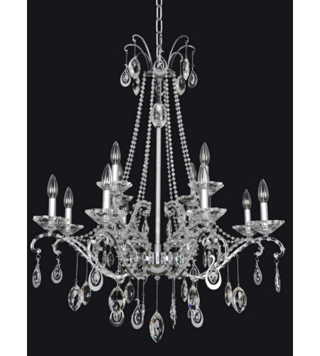 Allegri 023551 Torrelli 12 Light Chandelier In Chrome