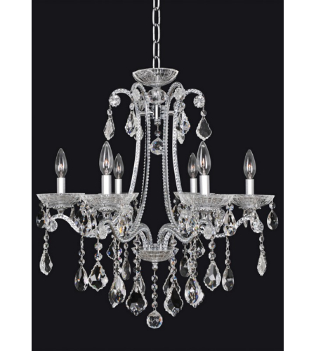 Allegri 024150 Ferrero 6 Light Chandelier In Chrome