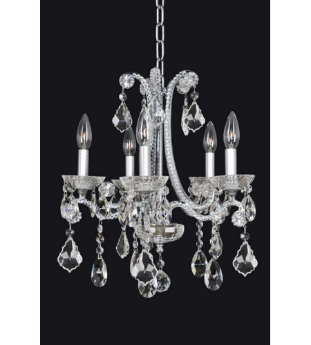 Allegri 024151 Ferrero 5 Light Chandelier In Chrome