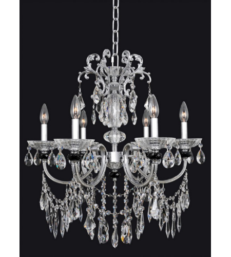 Allegri 024250 Steffani 6 Light Chandelier In Chrome