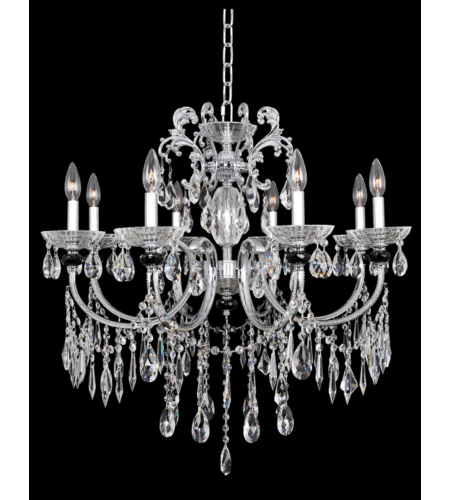Allegri 024251 Steffani 8 Light Chandelier In Chrome