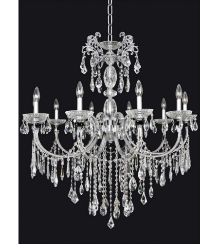 Allegri 024252 Steffani 10 Light Chandelier In Chrome
