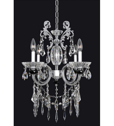 Allegri 024253 Steffani 4 Light Chandelier In Chrome