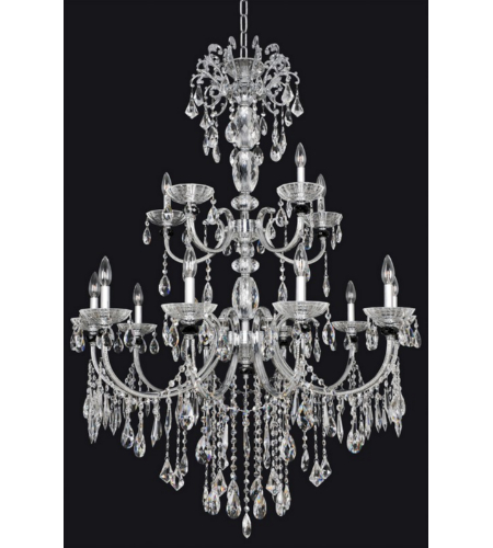 Allegri 024254 Steffani 15 Light Chandelier In Chrome