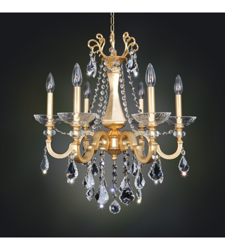 Allegri 025450 Barret 6 Light Chandelier In French Gold / 24k