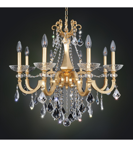 Allegri 025451 Barret 8 Light Chandelier In French Gold / 24k